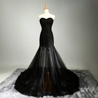 Wholesale Top Selling Mermaid Wedding Dresses - Fashion Luxury Sweetheart Real Made Top Quality Mermaid Black Wedding Dress Professional Design Hot Selling Bridal Gowns Free Shipping
