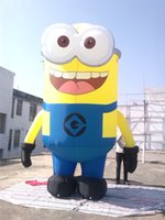 Wholesale Commercial Inflatables - amazing 4mH inflatable yellow minions cartoon for commercial used with free air blower