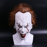 Wholesale Kids Clown Mask - 10PC Christmas mask TOY Pennywise Costume It The Movie By Stephen King it Scary Clown Mask Men's Cosplay Prop free shipping 666