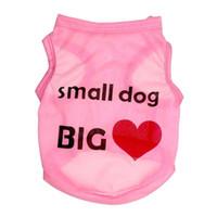 Wholesale Cheap Big Dog Clothes - wholesale cheap pet dog cat clothes small dog big love vest thin