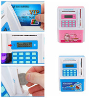 Wholesale Coin Bank Atm - Electronic ATM Money Bank Piggy Money Locker Coins Cashes Auto Insert Bills Safe Box Password ATM Bank Saver Children Gift KKA3076