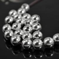 Round Metal Silver Spacer Beads 4mm 6mm 8mm 10mm Spacers Loose Bead for Fashion Jewelry Making DIY