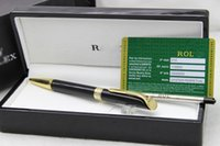 Wholesale Unique Luxury Gifts - Luxury pen set Unique design rx pen , stationery supplies office & school metal   resin Ballpoint Pen and a gift black wood box