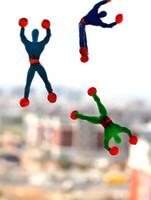 Wholesale sticky men - 50PCS Climbing Spider Man Sticky Climbing Wall Superman Nostalgic Toys Funny Toys for Children Kids