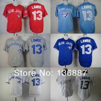 Wholesale Cheap Baseball Style Jerseys - Toronto Blue Jays #13 Brett Lawrie,Authentic Baseball Jerseys,2016 New Style Wholesale Cool Base Cheap Jersey,Embroidery Logos