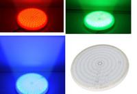 calentador de la piscina al por mayor-Resina completamente inyectada 12V LED Par56 Lámpara de estanque de la piscina Luces subacuáticas de color blanco cálido Blanco frío Iluminación de la fuente RGB azul CE ROSH