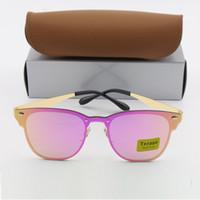 3d7036a85f5 50pcs Luxury 3576N Txrppr Gold Frame Pink Mirror 57mm Lens Sunglasses Men  Women Brand Designer Vintage Sun Glasses For Lady Sunglass Glasse from ...