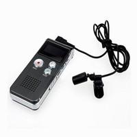 grabadoras telefónicas al por mayor-Hot 8 GB USB VOR grabadora de voz digital recargable caja de metal dictáfono 16 GB línea de reproductor de mp3 en el registro directo de audio grabador de teléfono
