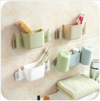 Wholesale Suction Hook Wholesale - Free shipping new bathroom accessories cute Toothbrush Holder suction Hooks suction cup toothbrush holder Wall Suction Holder Bathroom Sets