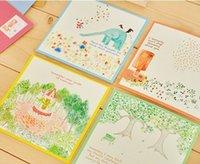 Wholesale Cute Stationery Envelopes - Wholesale- 10 sets  lot Cute Cartoon Kawaii Animal Color Writing Paper and Envelope Set Korean Stationery Wholesale 03214