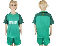 Wholesale Spanish Boys - 1718 Spanish champion team MOYA soccer short-sleeved baby dress 1718 OBLAK classic green goalkeeper football children's wear