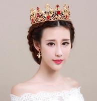Wholesale full hairbands - Royal luxury Crown bridal tiaras Wedding Crown princess big full of luxury CrownHeadband Hair Accessories Party Wedding Tiara HT142