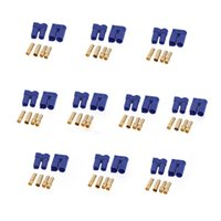 Wholesale free rc plane - New Arrival Free Shipping 10 Pairs EC5 Device Connector Plug for RC Car Plane Helicopter Multi-Copter E5M1 order<$18no track