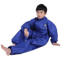 Wholesale Children Rainwear - Children Raincoat Rainwear Conjoined Foreign Trade The Original Single Raincoat Cartoon Raincoat Rain Pants Suit Environmental Protection