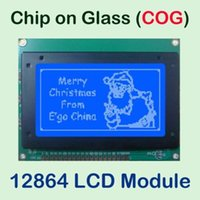 Wholesale Lcd Graphic Display Modules - Wholesale-PCB Size: 93X70MM Graphic Matrix Blue LCD Module Display Screen 12864 build-in NT7534 COG Controller with LED Backlight