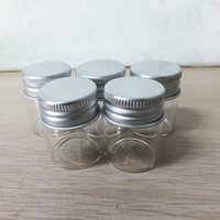 Wholesale small travel jars - 12g Small Round Empty Bottle for Cosmetic Cream Mini Travel Size Aluminium Jar Cream Sample Bottle Continer