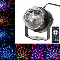 Wholesale Car Led Lights Wholesale Usa - Party Lights RGB LED Magic Ball Stage Lighting for Car Decoration Ballroom KTV PARTY Home Decorative Stage Effect Lamp With Remote Control