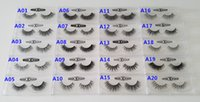 1 paires achat en gros de-13-16mm 1 paire / boîte OEMPrivate Logo Acceptable Real 3D Mink Hair Hair Eyelashes Messy Eye Lash Extension Sexy Eyelash Full Strip Eye Lashes