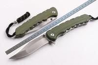 cuchillo plegable al por mayor-Nueva High-end OEM WildBoar D2 blade Flipper cuchillo plegable 62HRC G-10 Handle Wire drawing blade cuchillos tácticos de supervivencia con caja de regalo