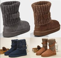 Wholesale Mesh Shoes Heels - Wholesale Women WGG Australia Classic Boots girl triple black blue Brown Khaki boots Boot Snow Winter boots leather outdoor shoes size 35-40