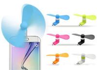 büyük cep telefonları toptan satış-100% test taşınabilir büyük rüzgar dilsiz mini usb soğutma fanı cep telefonu fanı iphone 5 / 5s / 6 / 6s artı samsung android telefon opp torba