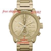 Wholesale Oversized Wrist Watches - free shipping New 5302 Chronograph Wrist Watch Gold Oversized