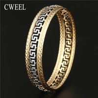 CWEEL Charm Bracelets for Women luxury Brand Gold Silver Color Hollow Fiesta Beach Party Bangle Pulsera Joyería India Bangles