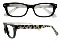 Wholesale Leopard Scratches - 2016 Brand Quality Acetate Small Oval Shape Full Rim Women Optical Eyeglasses Frame with Leopard Temples Optical Glasses Frame B04117