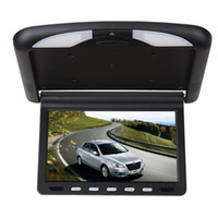 Wholesale Car Roof Dvd Mounts - Car Video 10.1 Inch LCD Monitor Super Slim HD Car DVD with Flip Down Roof Mounted monitor IR Emission auto video Players Flip Down monitor