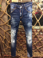 Wholesale Denim Tight - Wholesale Europe and the United States top quality bullet holes low waist tight new jeans real picture # 13396