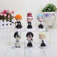 ingrosso giocattoli ichigo-6 pz / set 7 cm Anime Bleach Ichigo Ulquiorra cifer Renji Gin Toushirou Action PVC Figure Giocattoli Bambole