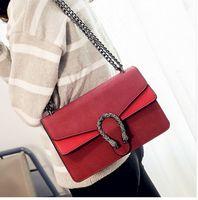 Wholesale Shoulder Bag Minimalist - Realer Designers Retro Female Minimalist Women's Messenger Bag Scrub Shell Chain Bags Shoulder Bag Womens Purses And Handbags