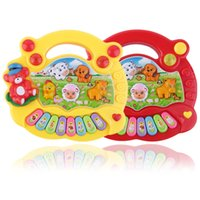 Wholesale animals musical toy piano for sale - Baby Kids Musical Educational Piano Animal Farm Developmental Music Toy Cartoon Animal Farm Developmental Toys for Children Gift