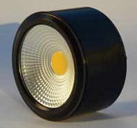 Wholesale Spot Led Slim - 220V Dinning Foyer showroom restaurant silver white black LED downlight surface mounted ultra slim ultrathin ceiling light COB mini LED spot