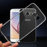 Wholesale Best Selling Cell Phone Cases For iPhone Plus For Samsung Galaxy Note S7 Edge Ultra Thin Crystal Transparent Soft TPU Silicone Cover
