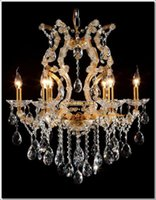 Wholesale Maria Crystal Chandelier Light - Glass chandeliers crystal Meerosee maria theresa chandelier Gold Cristal Lustres Pendentes 6 Lights MDS06 ready stock