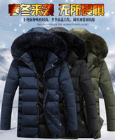 Wholesale Quilted Sleeves - 5XL Quilted Parka Coat Mens Fashion Thick Warm Fur Collar Hooded Jacket Coat For Men Multi Pockets Wild Men Parkas J161047