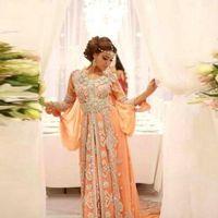 Wholesale Chiffon Kaftans - 2016 Luxury Celebrity Dress Elegant Abaya Dubai Kaftans Evening Dress Caftan Beaded O-Neck A-Line Long Sleeve Arabic Evening Gowns JS59