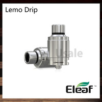 Wholesale Detachable Dripping - Eleaf Lemo Drip RDA Atomizer Detachable Structure No Thread Connection With Wide Open Build Space Rebuildable Drip Atomizer 100% Original