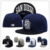 Wholesale Online Fit - Wholesale Online Shopping San Diego Padres Street Fitted Fashion Hat SD Letters Size Cap Men Women Retro Basketball Hip Pop