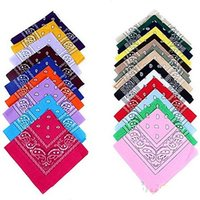 Wholesale 10000pcs Top Quality National Cotton Paisley Bandana Double Side Head Wrap Scarf Wristband Fast Shipping