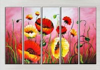Wholesale Modern Superb Oil Paintings - Superb Artist Handmade High Quality Modern Flowers Oil Painting On Canvas Handmade Floral Oil Painting For Living Room Decor