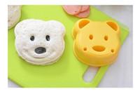 ayı sandviç kalıp ekmek toptan satış-Küçük Ayı Şekli Sandviç Kalıp Kek Kesici Kalıp Sandviç Makinesi Ekmek Plastik Kalıp DIY Kalıp Kesici