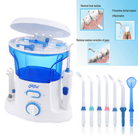 Wholesale Dental Water Cleaner - New Dental Floss Water Oral Flosser Home Pack Dental Irrigator Oral Teeth Cleaning Water 7 Pcs Tips, 600ml Water Tank Free Shipping B