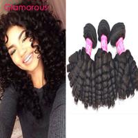 Wholesale Malaysain Hair - Glamorous Baby Curly Virgin Human Hair Weaves Full Cuticle Intact Brazilian Malaysain Peruvian Mongolian Hair Extensions 3 Bundles 8-34Inch
