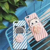 """Wholesale Iphone Case 3d Pig - Squishy Pig Cell Phone Cases Soft Blando Silicone Cat 3D Animal TPU Phone Cases For Iphone 6 4.7 """"  5 5.5"""" Iphone 7G Iphone 7P"""