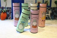 Wholesale Wholesale Chinchillas - 2016 cute chinchillas warm cup 310ml 400ml two volume Stainless steel thermal insulation Cup Student Car cup