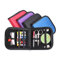 Wholesale Wholesale Sewing Notions - New Arrival Outdoor Sports Travel Hiking Emergencies Notions DIY Scissor Needle Tape Thread Sewing Kit 25pcs Set 2503024