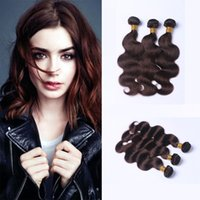 Wholesale Body Wave Weave Brands - 2017 Hot Factory Unprocessed Soft Color 2# Brazilian Virgin 100 Human Hair Weave Brands Body Wave