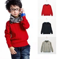 Wholesale Children Red Pullover Sweater - Fashion Brand kids Sweater baby clothes High Quality Spring autumn winter School Boys And Girls Children outerwear Sweaters 1411